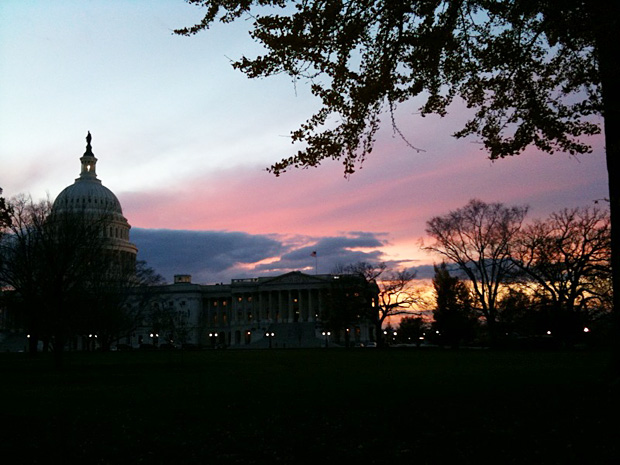 Sunset in Washington DC