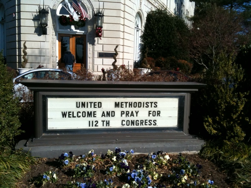 sign on capitol hill