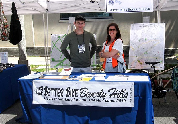 Mark Ellen BBBH booth Better Bike Beverly Hills