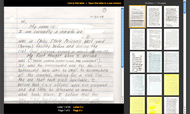 read letters from inmates who were involved in or witnessed the aug 8 2009 riot at the california institute for men in chino kpcc obtained the letters